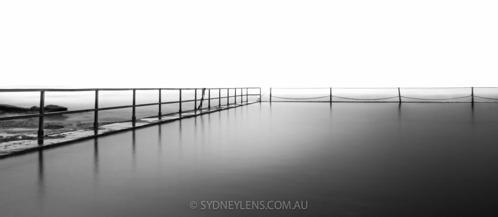 Photo in Black and White #landscape #leadinglines #leading lines #monochrome #b/w #b&w #cronulla #natural pool #reflections #smooth