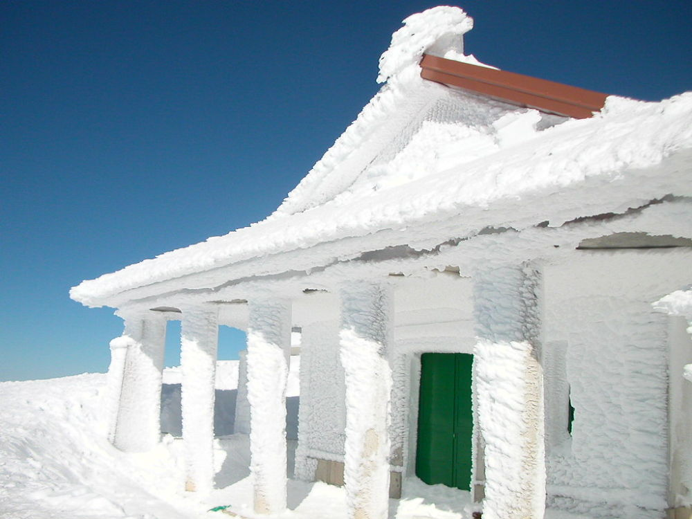 Photo in Nature #snow #portugal #serra da estrela #nikon #blue #white