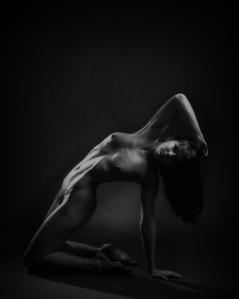 Photo in Nude #nude #female #flexible #fit #beautiful #tits #hairy #sensual