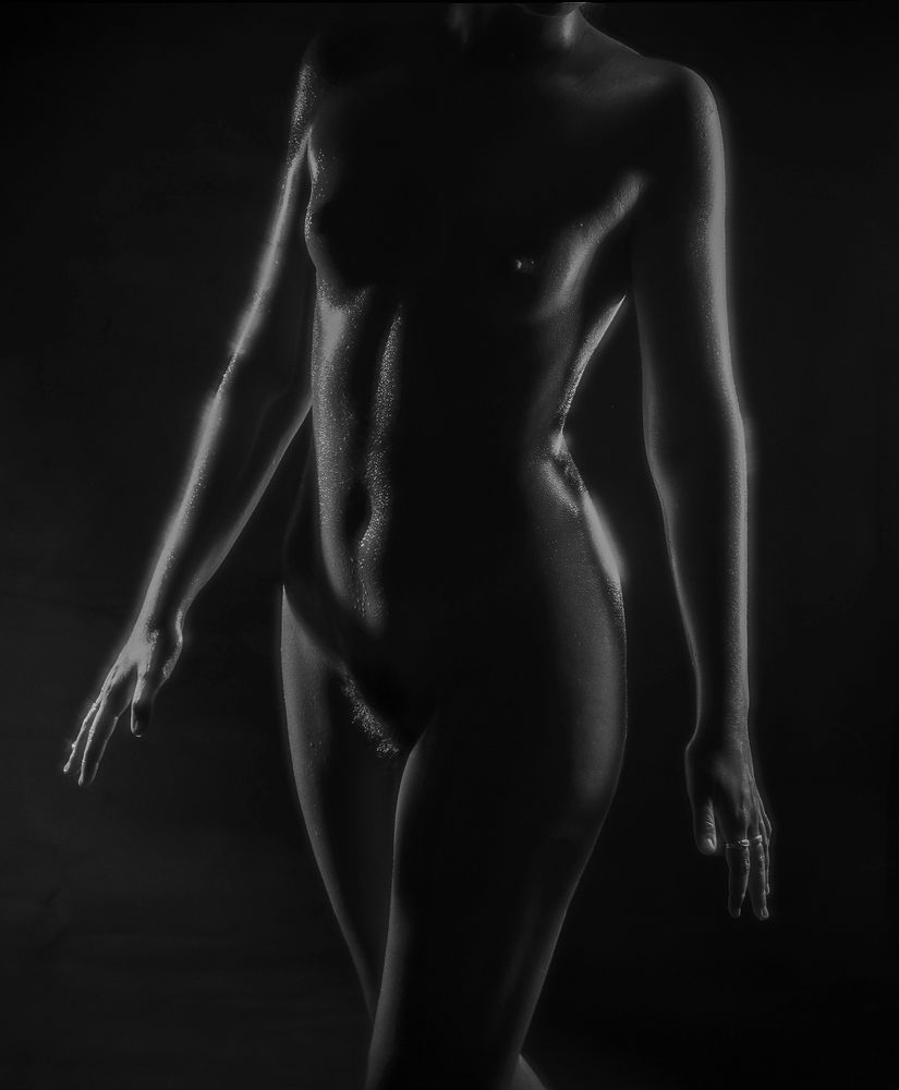 Photo in Nude #nude #female #female shapes #small breasts #hairy #beautiful
