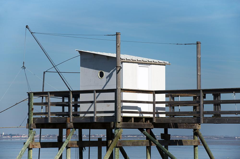 Photo in Sea and Sand #carrelet #fishing hut #cabane de pêche #fishing net #fouras #ponton
