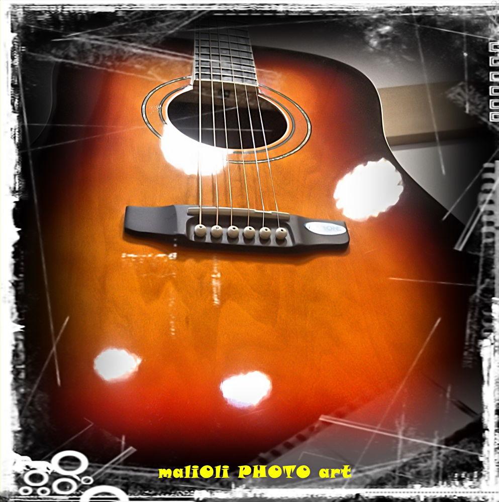 Photo in Random #guitar #acoustic guitar #photo art #musical instrument #music #sony #sony xperia #croatia #europe