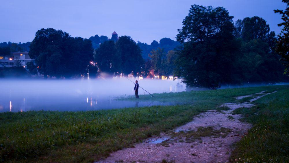 Photo in Lomo #river #fog #evening #twilight #kupa #karlovac #croatia #canon