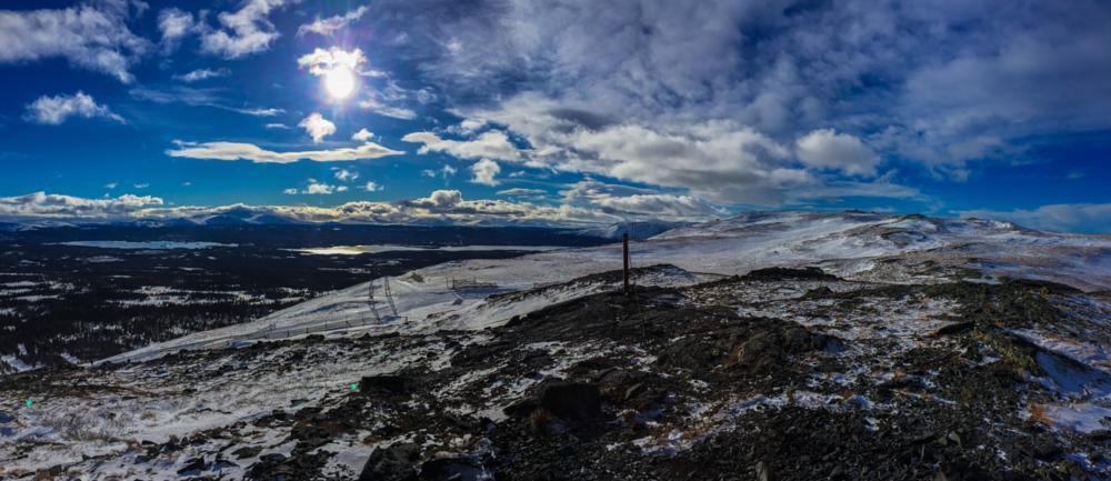 Photo in Landscape #trillevallen #sweden #jämtland #mountain #berg #snow #clouds