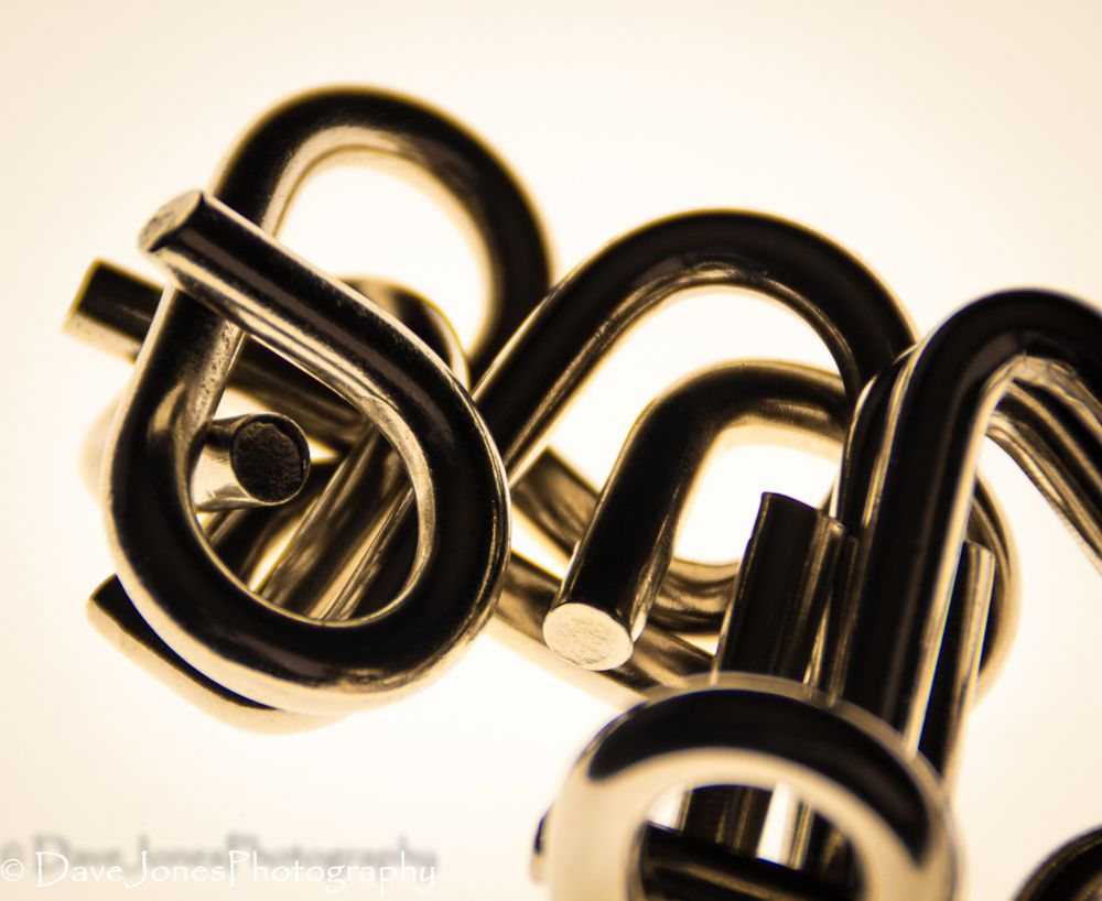 Photo in Macro #link #puzzles #metal