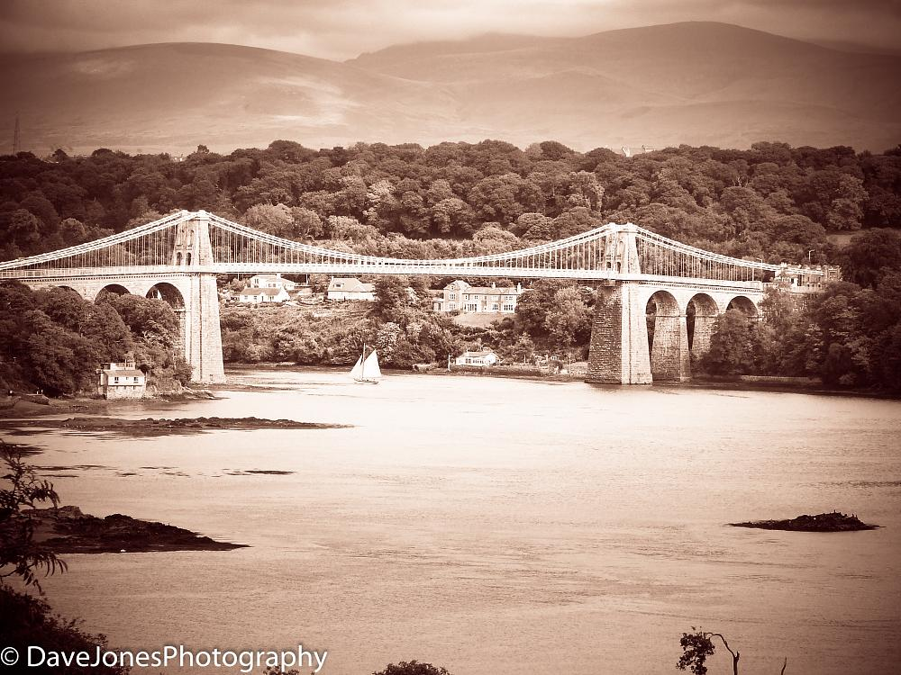 Photo in Landscape #wales #bridge #angelsey #sea #water #connection #suspention #boat