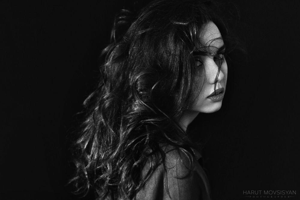 Photo in Portrait #beauty #blackandwhite #girl #people #portrait #women #dark