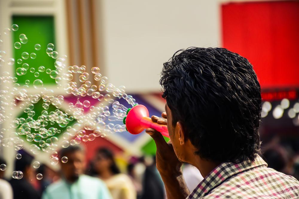 Photo in Street Photography #trade #fair #bubble #festival