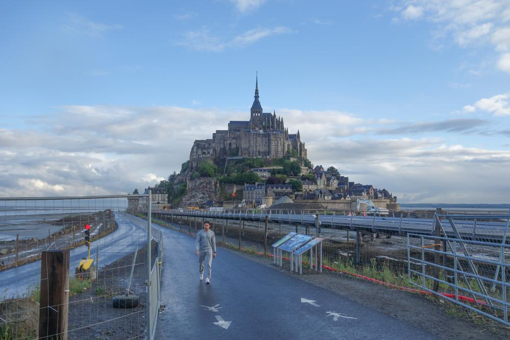 Photo in Sea and Sand #france #mont st. michel #church