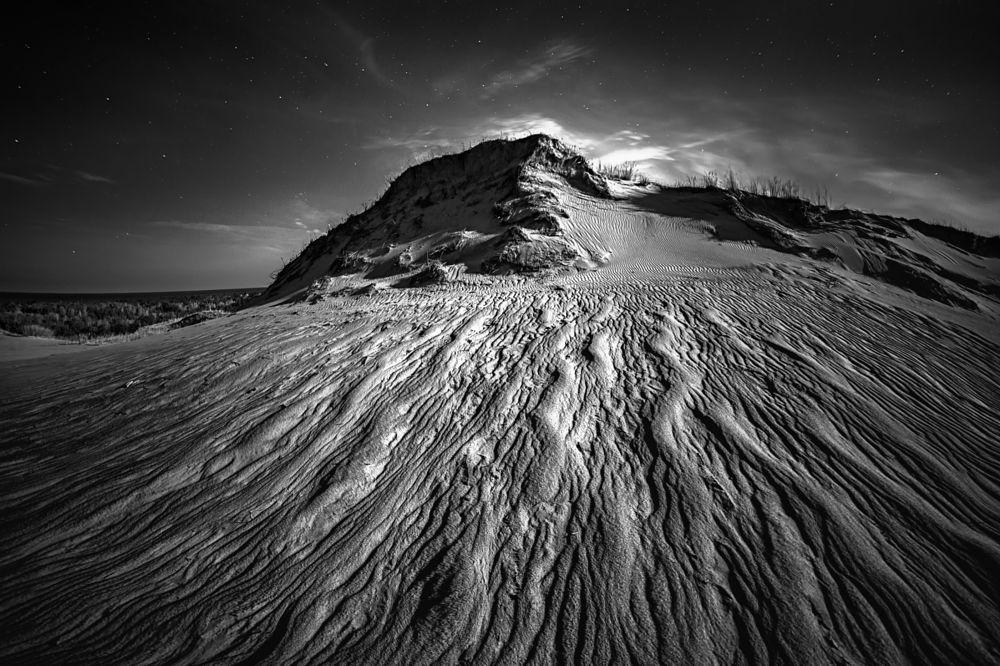 Photo in Black and White #landscape #black and white #rolandas sutkus #night #lithuania