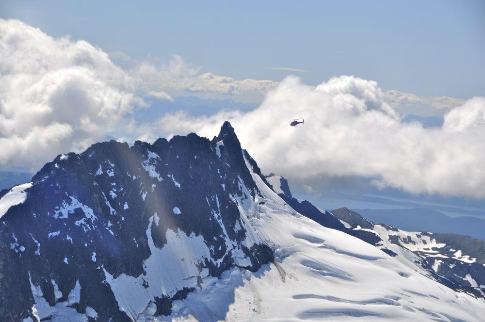 Photo in Landscape #alaska #mountains #helicopter #glacier