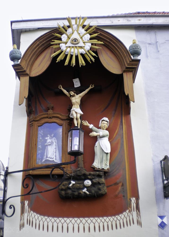 Photo in Street Photography #jesus #altar #divinity #street #belgium #bruges