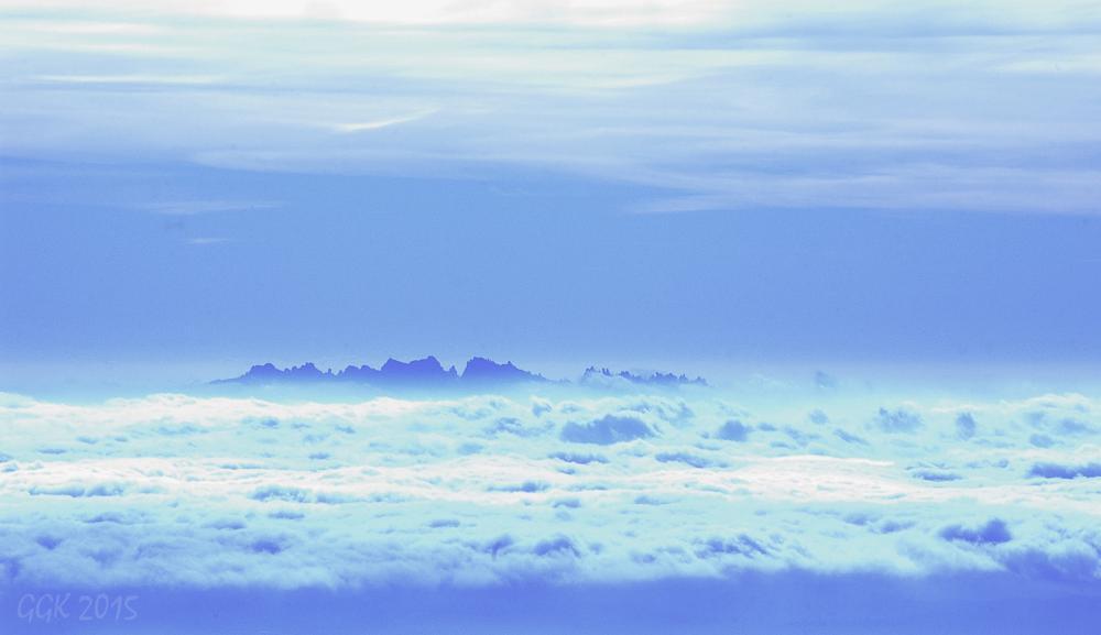 Photo in Landscape #barcelona #sanctuary #montserrat #mountain #clouds #landscape