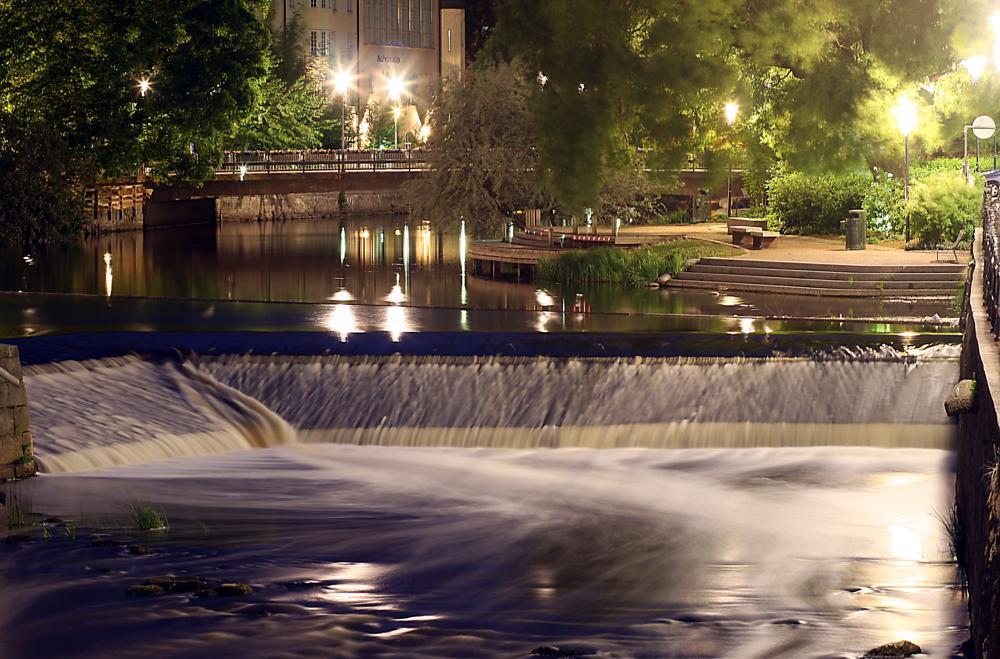 Photo in Landscape #fyrisån #city river #uppsala #sweden #sverige #night #natt