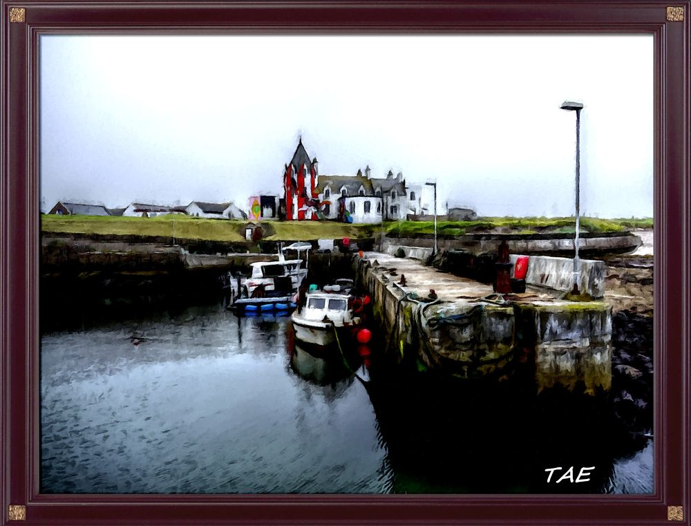 Photo in Random #art #oil #hotel #painting #boats #john #harbour #digital #scotland #pier #o #fine #canvas #groats #wick