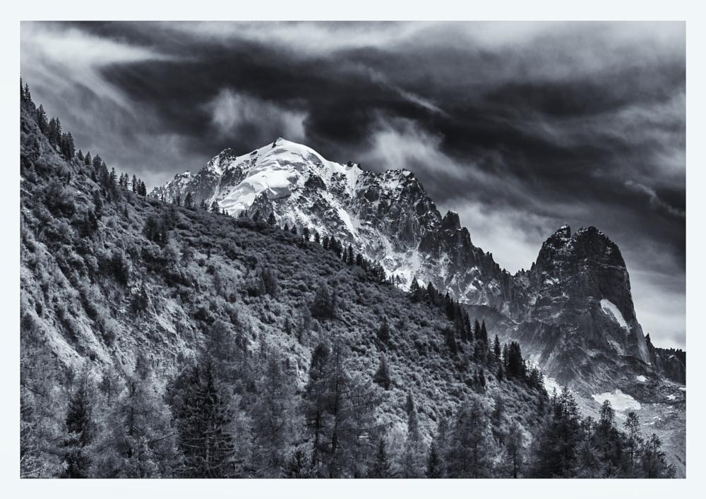 Photo in Landscape #chamonix #mountain #bw #landscape