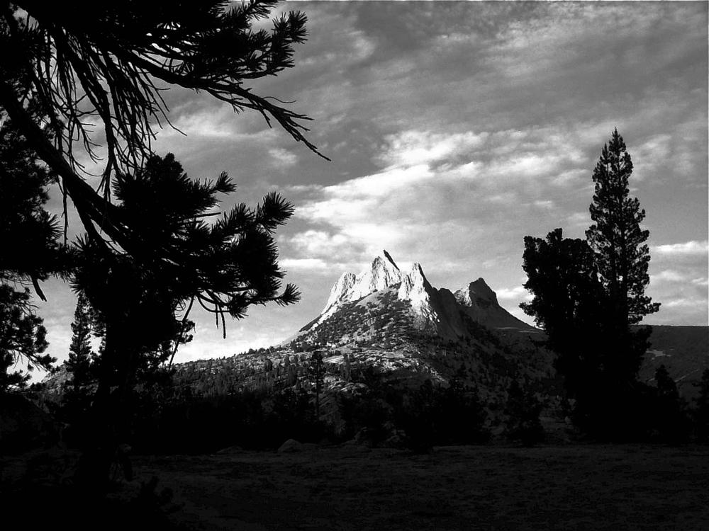 Photo in Black and White #yosemite #mountain #crag #afternoon