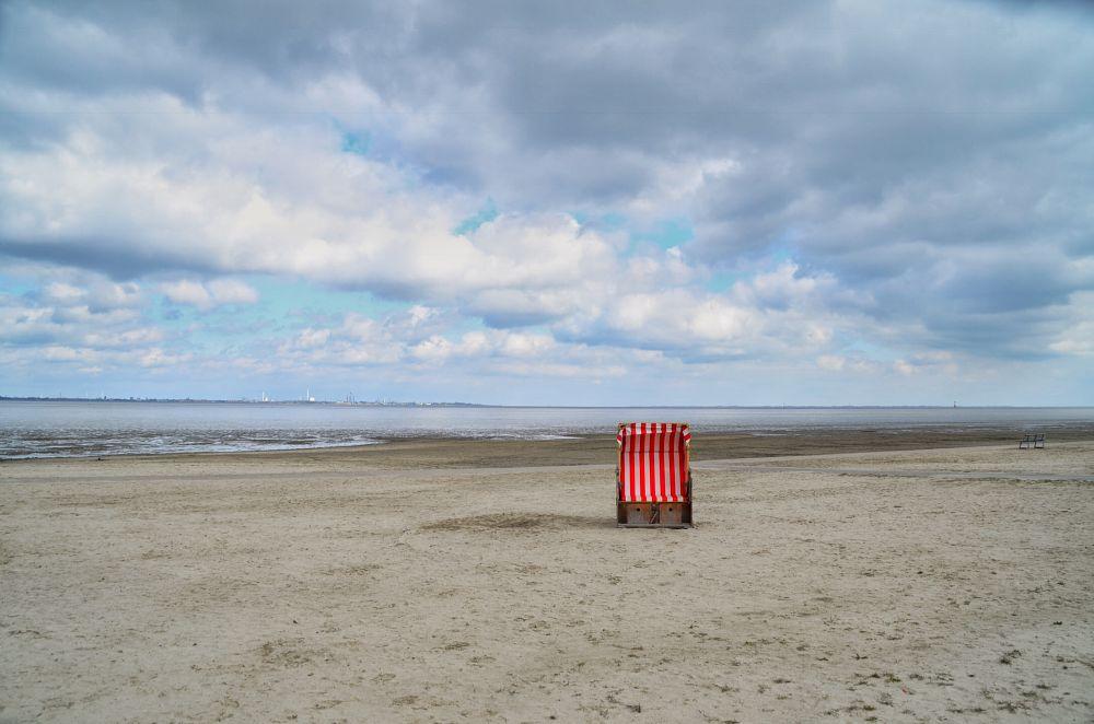 Photo in Landscape #strandkorb #wattenmeer #dangast #jadebusen