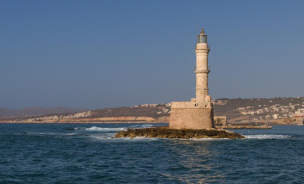 Photo in Landscape #crete #chania #chania harbour #chania lighthouse #lighthouse #greece #mediterranean