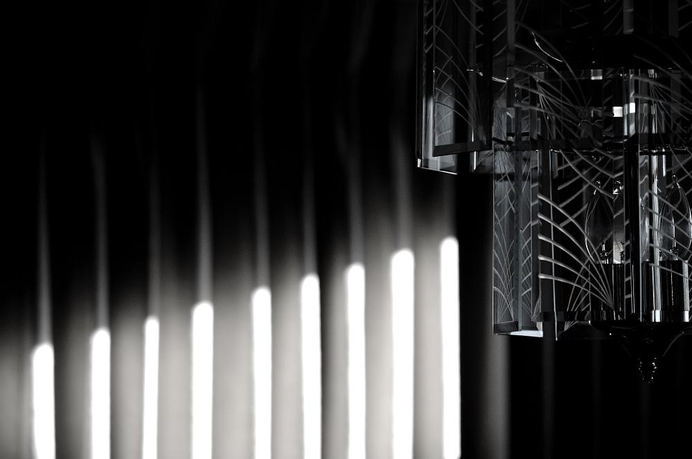 Photo in Black and White #light #shadow #shade #chandelier