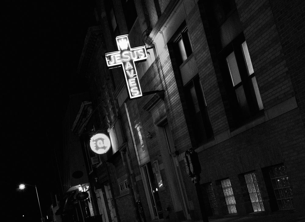 Photo in Black and White #jesus #salvation #new jersey