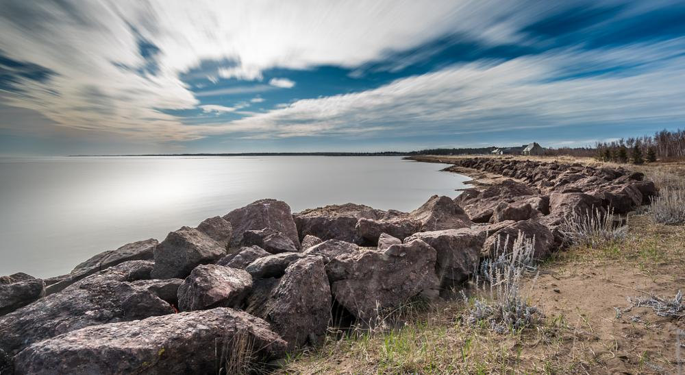 Photo in Landscape #canada #new brunswick #sea #beach #spring #sky #long exposure #lee filters #big stopper