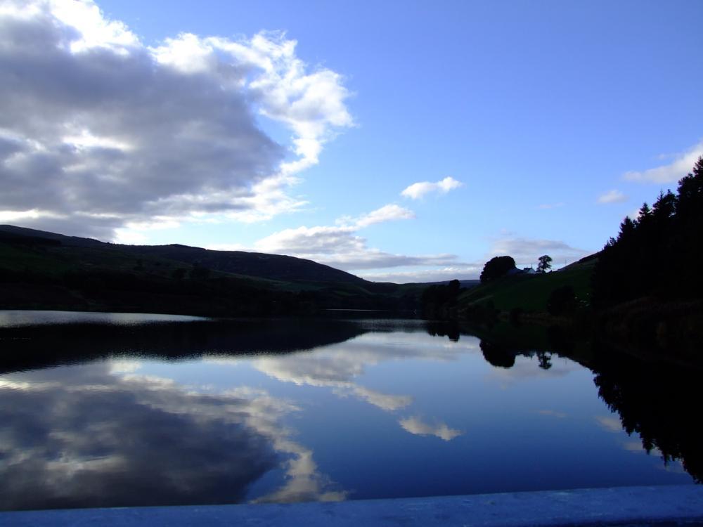 Photo in Landscape #reflection #castle #hill #water #fife #loch #calm #mirror