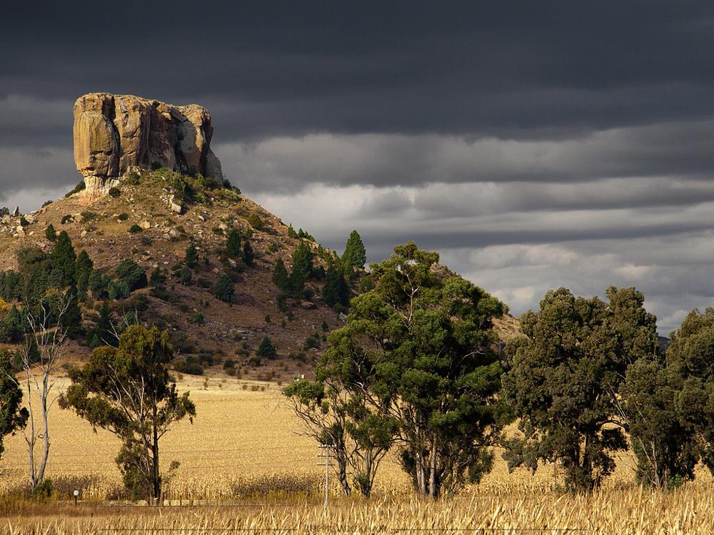 Photo in Landscape #mountain #spitzkop #landscape #stormy #bluegum