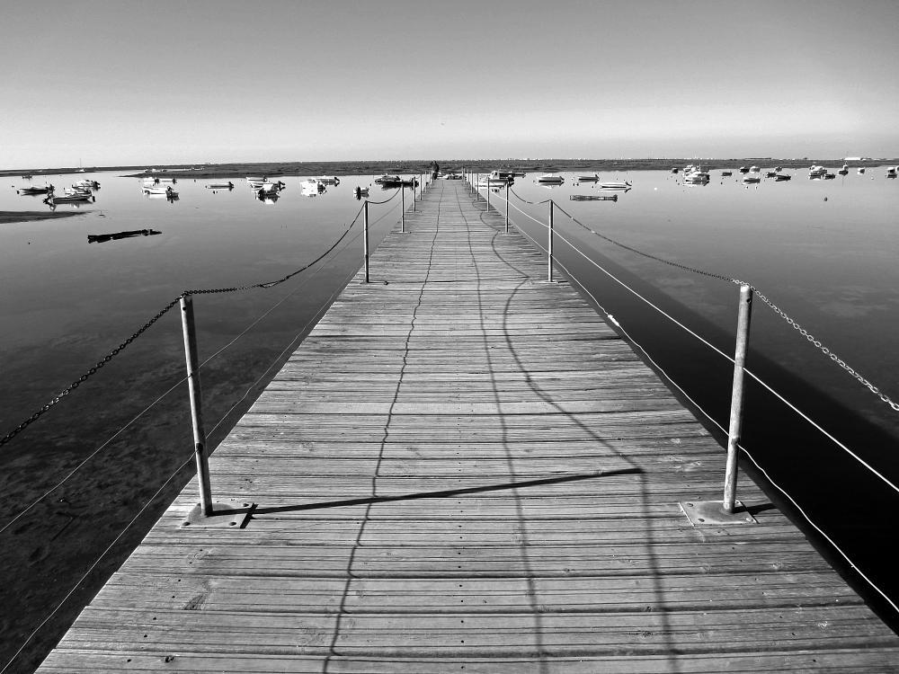 Photo in Black and White #pier #faro #portugal #warren hanratty photography #marina #algarve