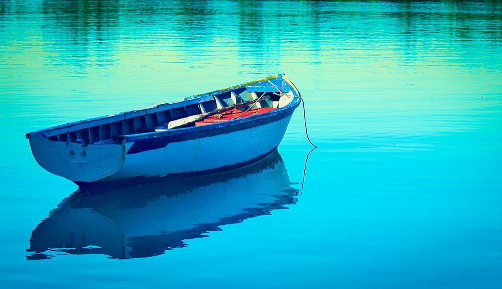 Photo in Travel #pirogue #reflection #calmness #sea #mauritius