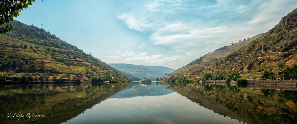 Photo in Landscape #douro river #river cruise #reflections #porto #vila real #portugal