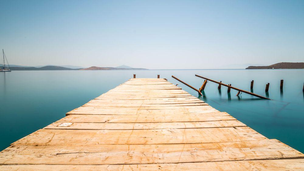 Photo in Landscape #loneliness #turkey #muğla #bodrum #ortakent #long exposure
