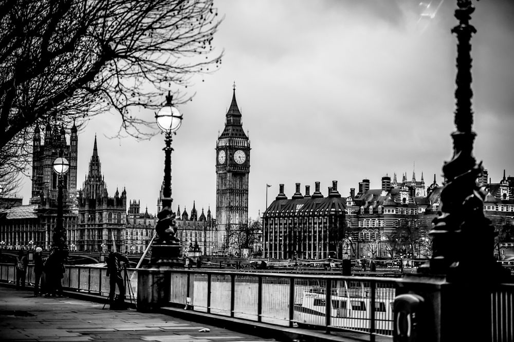 Photo in Black and White #london #landscape #big ben #photographer