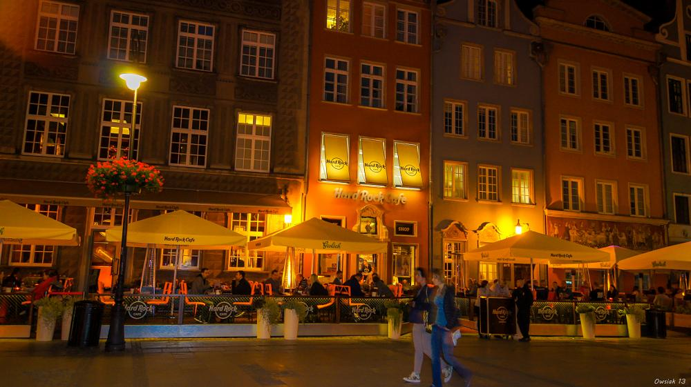 Photo in Cityscape #hrc #hard rock cafe #hrc gdansk #hard rock cafe gdansk #night #lights #hrc restaurant #sony #sony alpha
