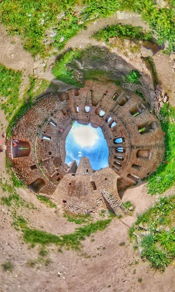 Photo in Fine Art #inverted tinyplanet #theta v #ricoh #littleplanet #photo 360 #panorama 360 #alsace #château #ruines