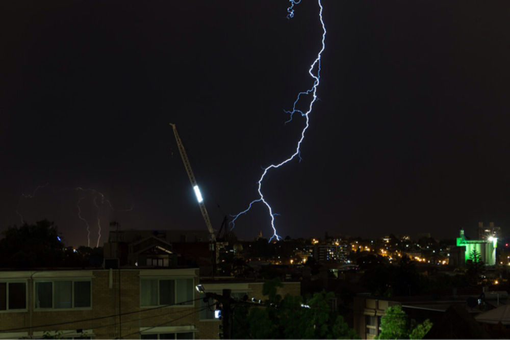 Photo in Nature #summer #melbourne #night #lightning #storm #dry lightning