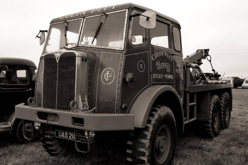 Photo in Black and White #vintage #lorry #steam fair
