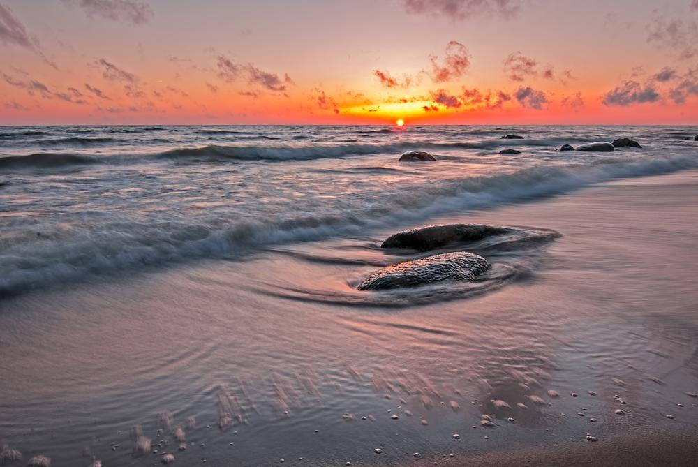 Photo in Landscape #sunset #stones #sea