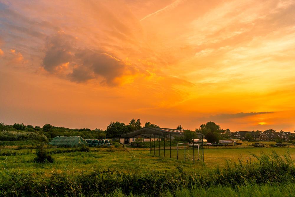 Photo in Landscape #sunset #sky #clouds