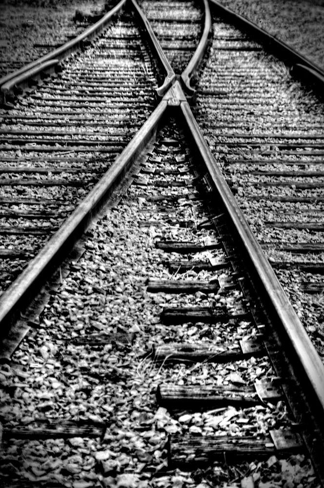 Photo in Random #train #tracks #transportation #black and white #rails