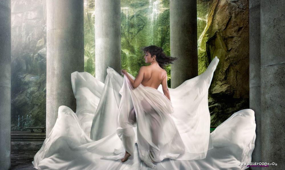 Photo in Fine Art #silk #noa #www.isidrocea.com #artistic nude #fine art #girl #arabian