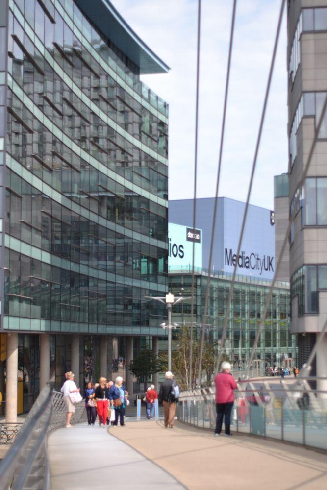 Photo in Architecture #bridge #view #mediacity uk #salford