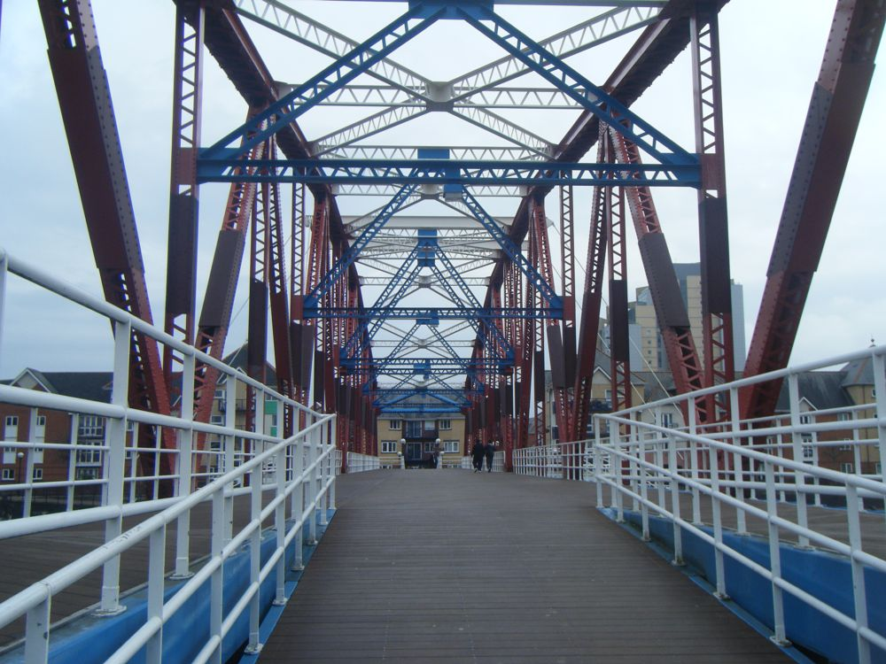 Photo in Architecture #salford #quays #detroit #bridge #buildings #living #crossing #apartments