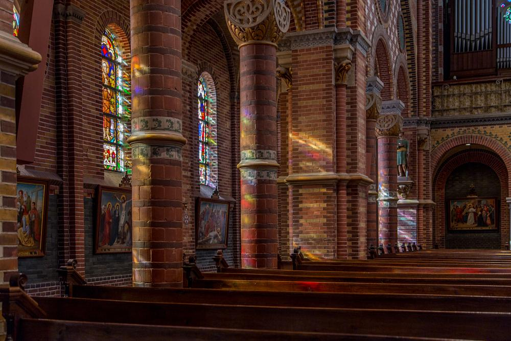 Photo in Astrophotography #church #architecture #raamsdonk #holland #leaded windows