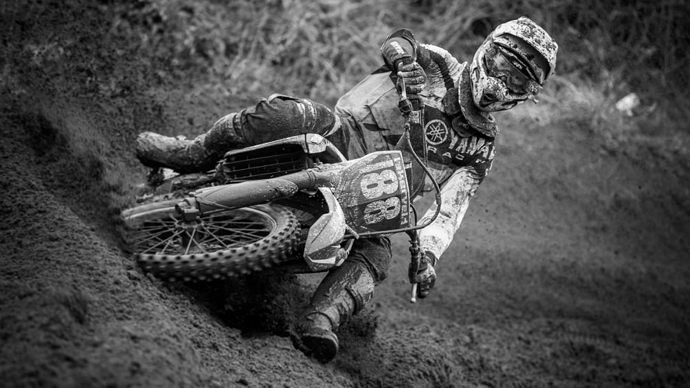 Photo in Sports #b&w #black&white #mx #motorcross #yamaha #motocross