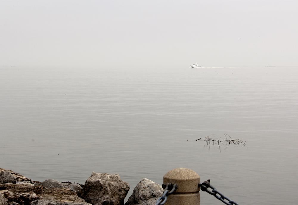 Photo in Random #burlington #lake #mist #boat #park