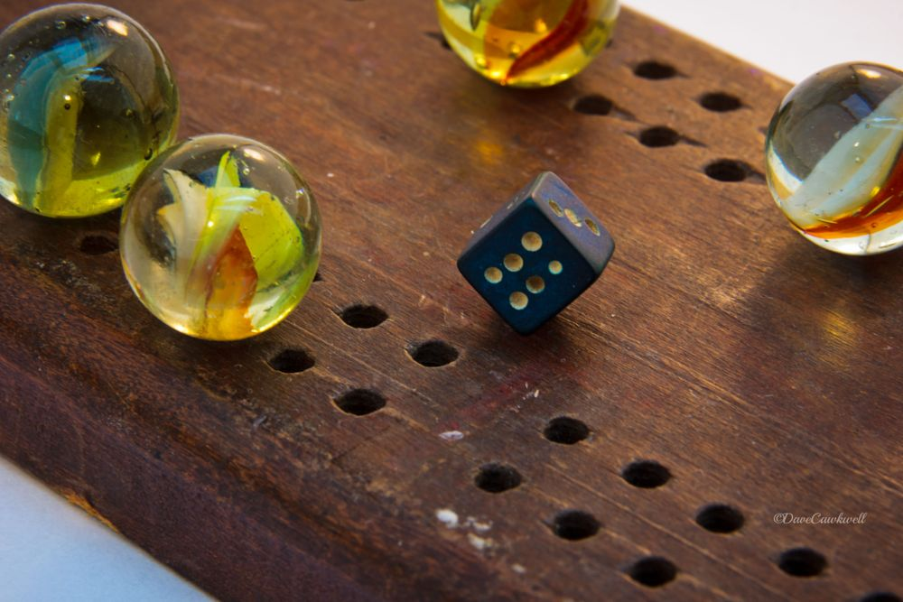Photo in Macro #cribbage #marbles #macro #dice #game #toy #wood #colour