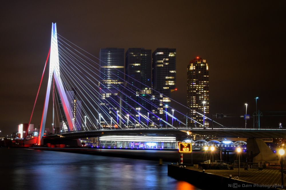 Photo in Cityscape #erasmusbrug #kop van zuid #rotterdam