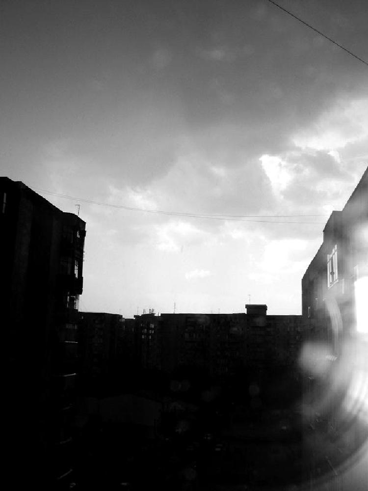 Photo in Abstract #bucharest #bucuresti #romania #cloudy #dark #darkness #sky #buildings #blocurile gri #abstract