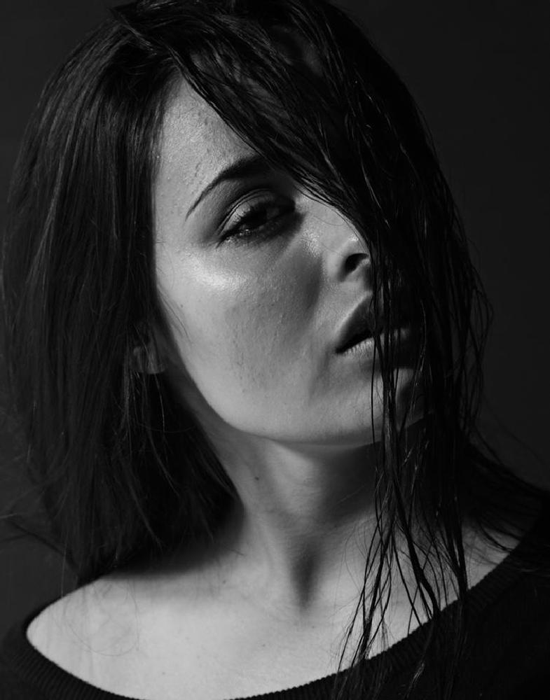 Photo in People #lowkey #black #white #wet #hair #portrait #skin